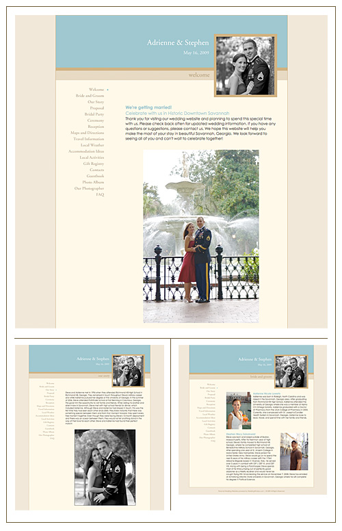 Adrienne and Stephen's Wedding Website