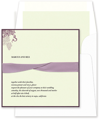 Same-Sex Wedding Invitation Etiquette. September 10, 2009, author Bruce ...