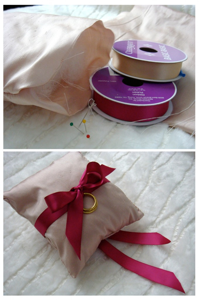 Ribbon Ring Bearer Pillow WedLoft