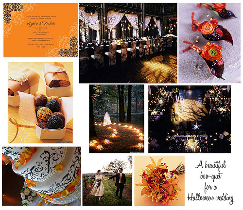 Halloween Weddings: Peach Pizzazz!: Halloween Wedding