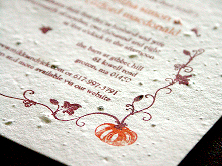 Halloween wedding invites