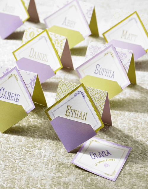 Wedding Escort Cards and Menus