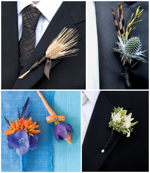 Unique Wedding Boutonnieres And Corsage Ideas