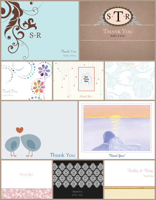 Save on Your Wedding Gift Thank You Cards