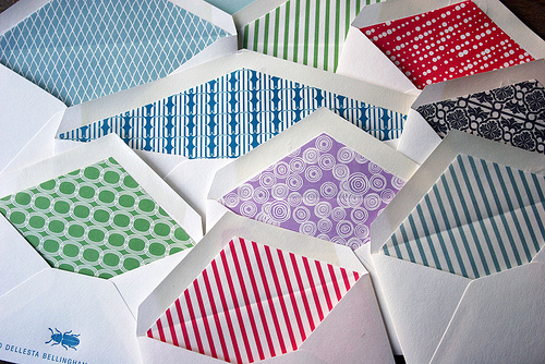 Envelope Liners from Smock Letterpress