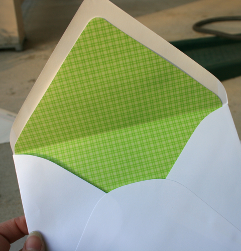DIY Liners for Your Wedding Invitation Envelopes