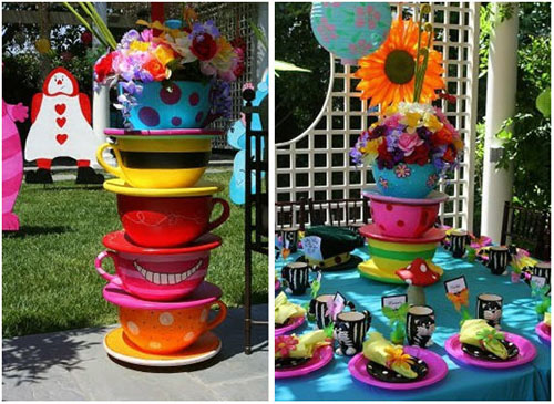 Tea party bridal shower - Mad hatter tea party decoration ideas ...
