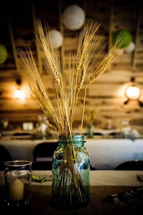 wheat as wedding decor