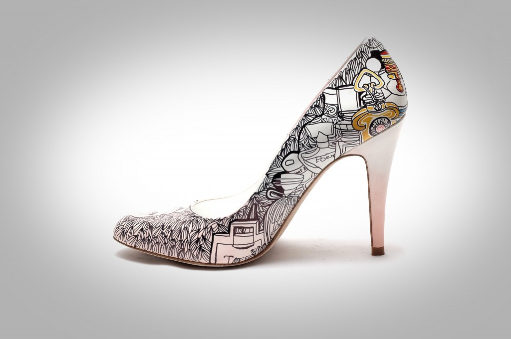 Beautiful Hand Painted Wedding Shoes!