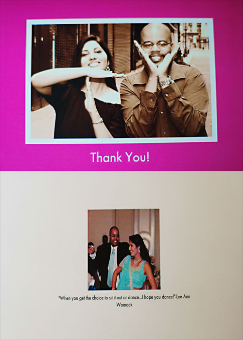 Front and Back of the Card. Photography by Tomas Ramos and Mary Lee Photography. Card by Cardstore.com.
