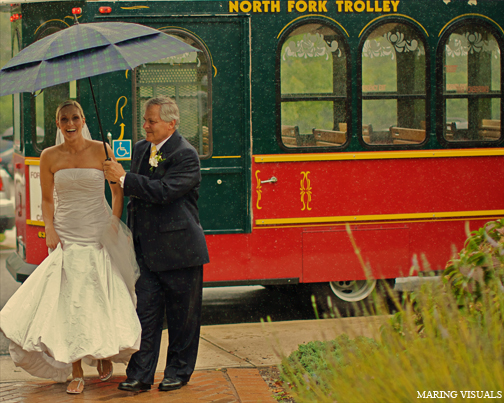Rainy Wedding in the Hamptons