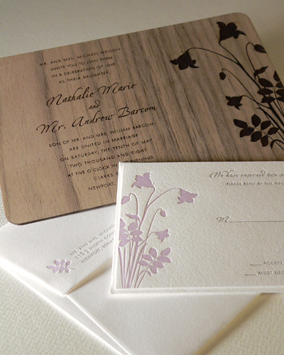Wooden Wedding Invitations – Wood Invitations Wedding