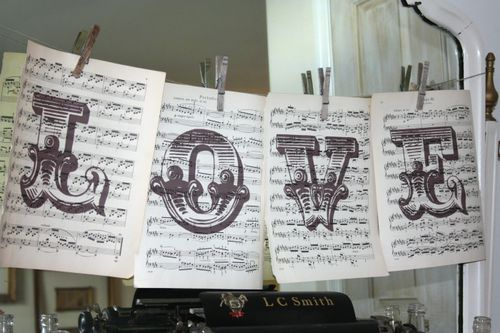 music theme wedding decorations