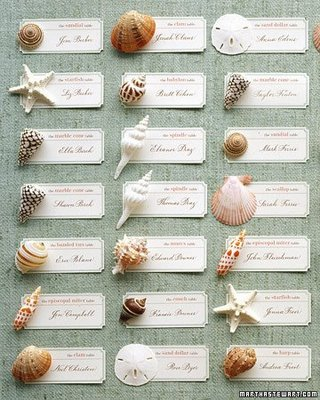 Beach Escort Cards