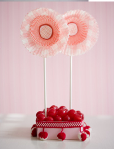 Cupcake Liner Wedding Centerpieces