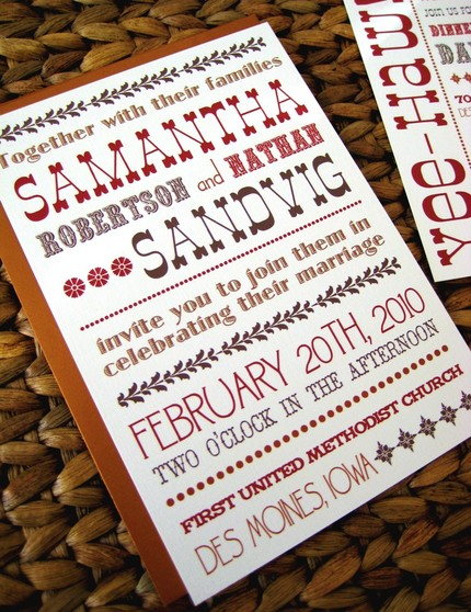 western style wedding invitations