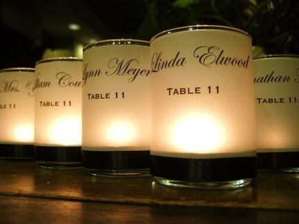 candle escort cards