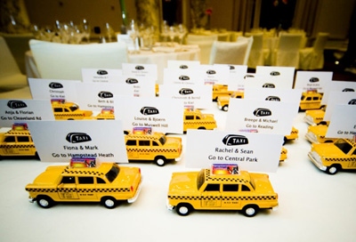 Toys as Escort Cards