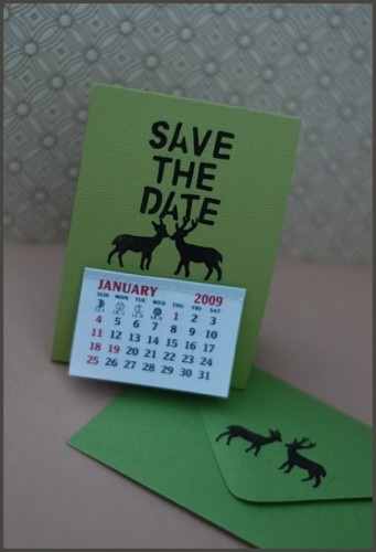 DIY Calendar Save the Dates