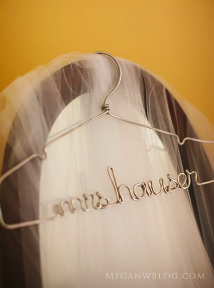 custom wedding dress hangers