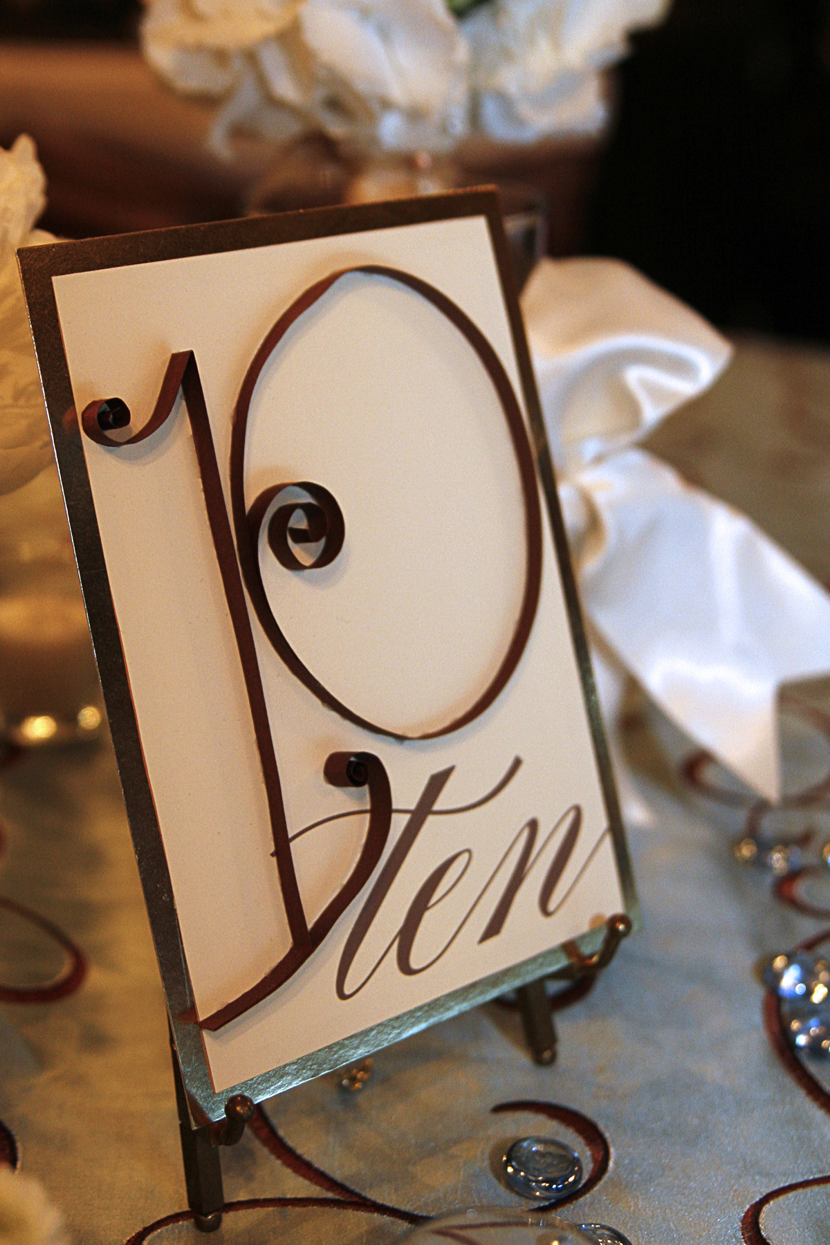 Wedding details table numbers ideas for Table numbers