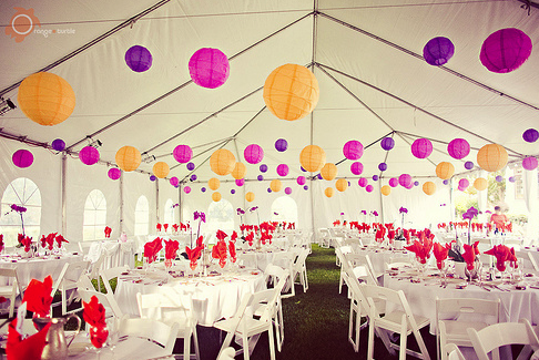 Wedding Decor Photo Credit Orangeturtlephotographycom Purple And Orange