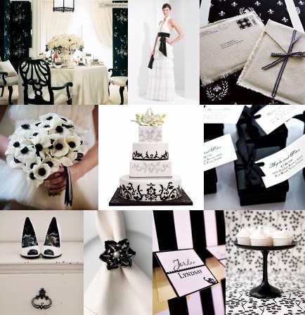 black and white wedding inspiration