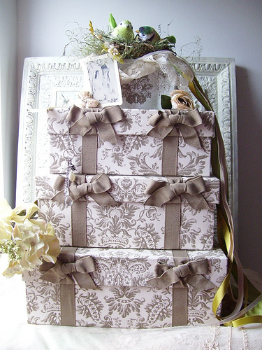 Vintage Wedding Gift Card Holder : cardbox_customcottagetouch