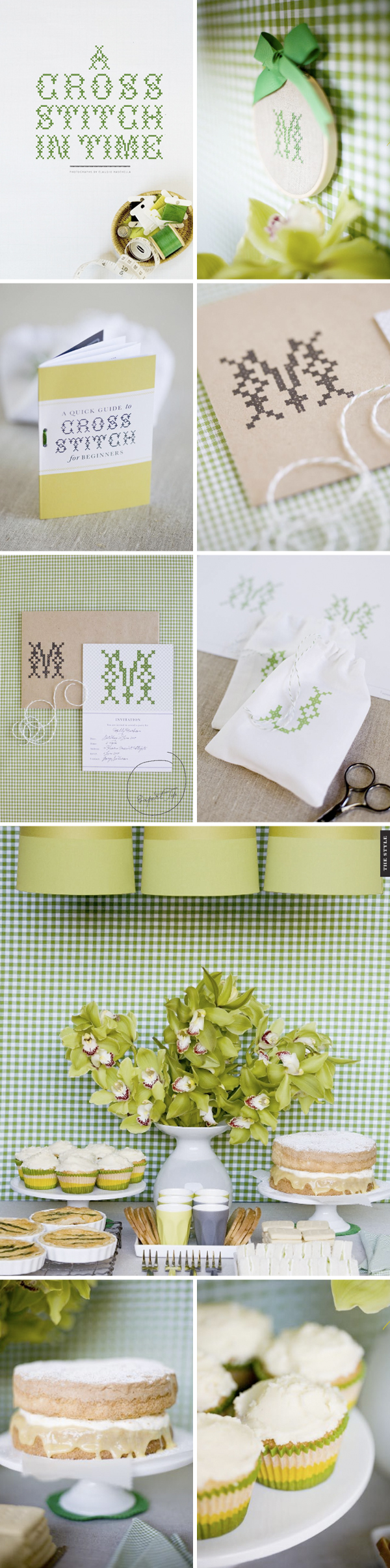 gingham wedding details