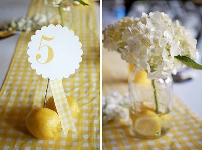 yellow wedding details