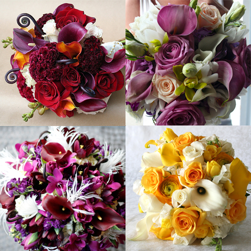 Bridal Bouquet With Color : Beautiful bridal bouquets
