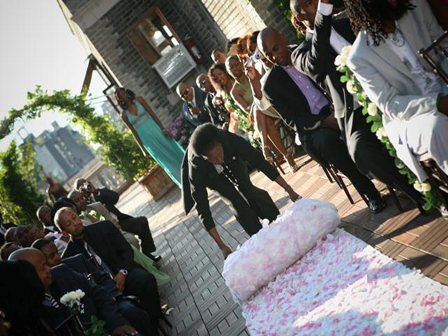 Budget Friendly Wedding Ceremony Floral Aisle Runner