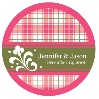 plaid wedding details