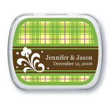 plaid wedding favors