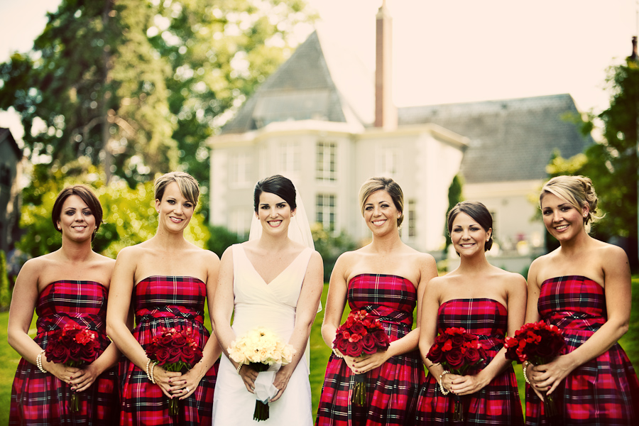 plaid bridesmaid dresses