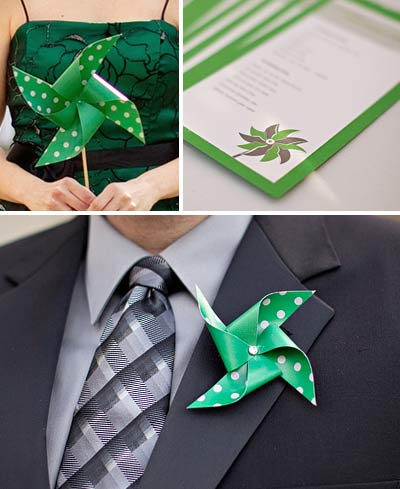 pinwheel wedding theme