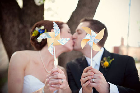 pinwheel wedding