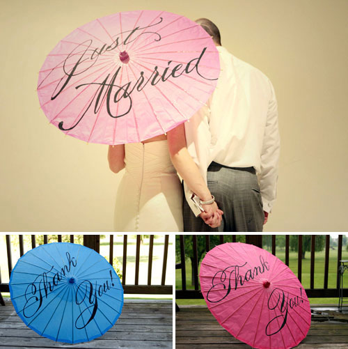 wedding parasol giveaway