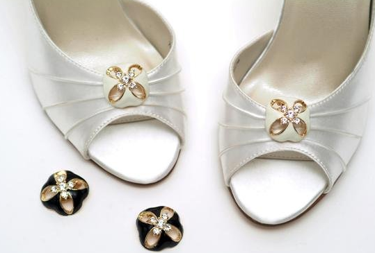 wedding shoe clips