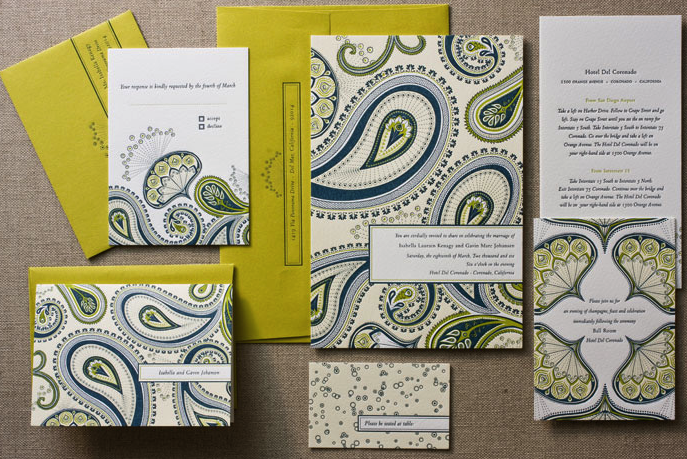 paisley wedding invitations