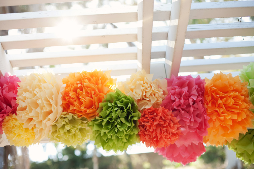 how to make tissue paper pom poms for wedding