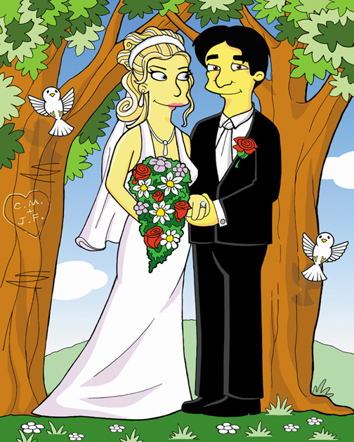wedding cartoons