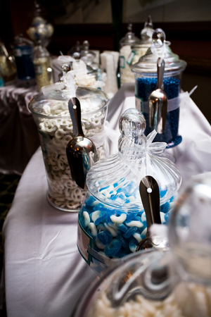 blue wedding candy bar