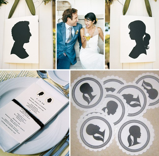 silhouette wedding details