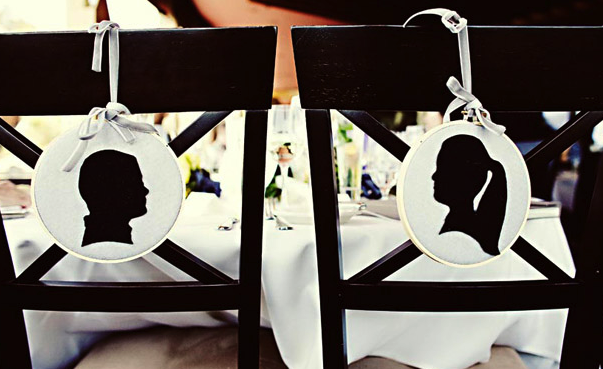 silhouette wedding theme
