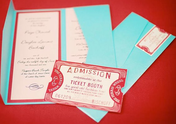movie ticket wedding invitations - Movie Ticket Wedding Invitations