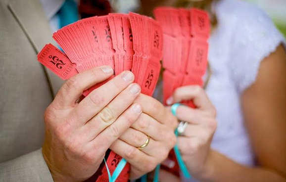 ticket wedding theme
