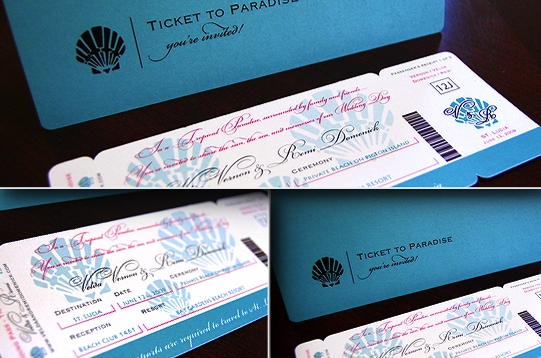 wedloft - Movie Ticket Wedding Invitations