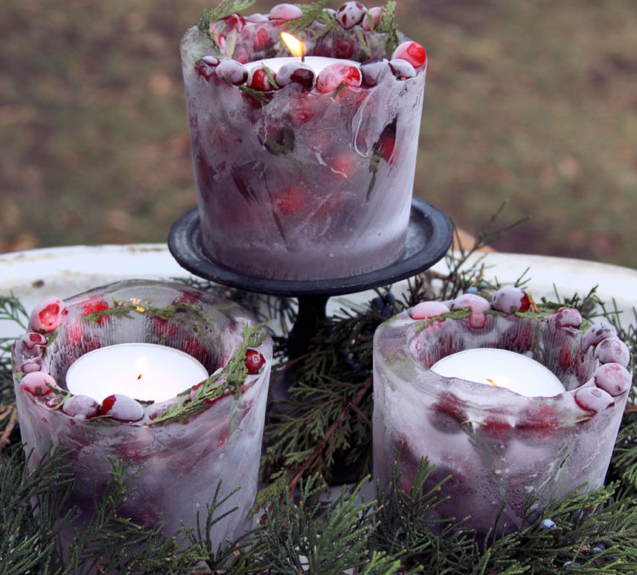 DIY wedding candle holders