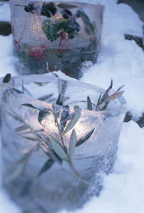 DIY ice lanterns